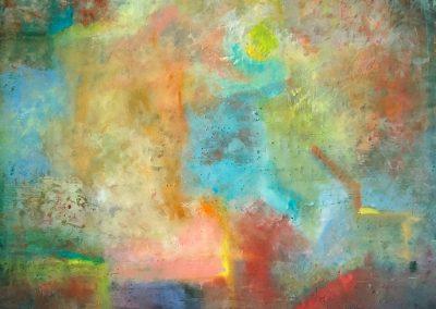 lagoon, painting by julie houck, maui artist