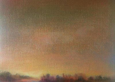 out of the fog, painting by julie houck, maui artist
