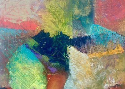 abstract colorful painting by julie houck