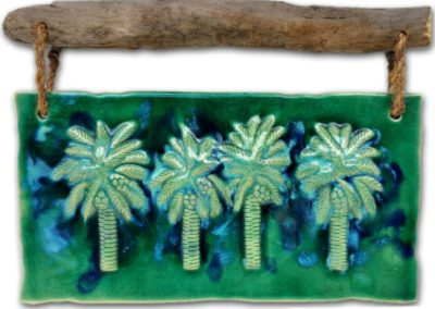 4 Palm Trees Wall Plaque by Albert Molina