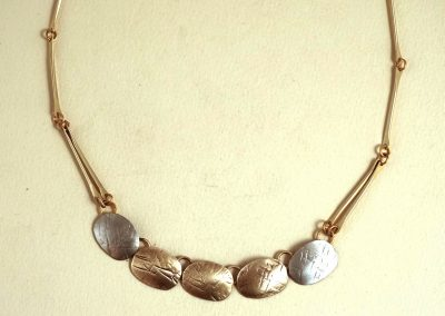 Mixed Metal Necklace by John & Linda Whitney