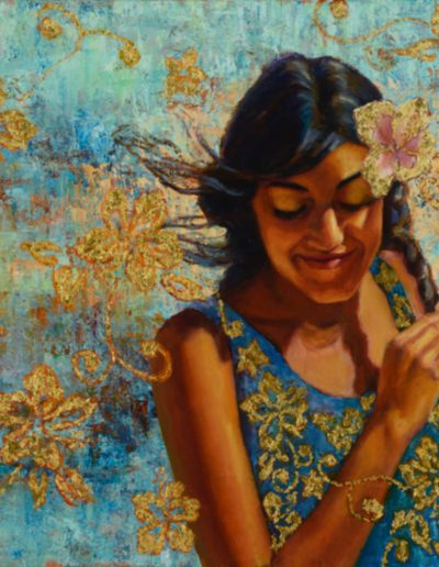 A Island Girl by Jeanne Young, painting