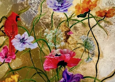 flower painting by by Liat Choucroun