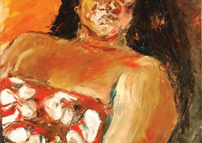 painting of Polynesian Woman by Lynne Rabe, maui artist