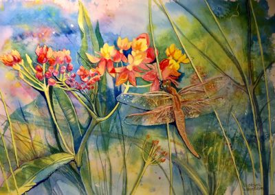 Dragonfly Painting by Victoria Wundram