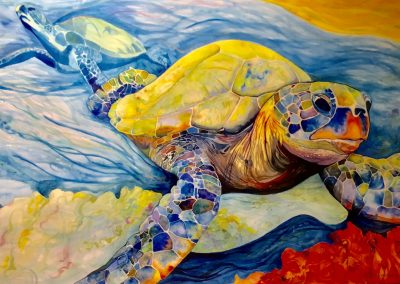 Turtle Painting by Victoria Wundram