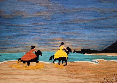 painting by -Jaclynn-Sabado-Eitel, Makena Ride