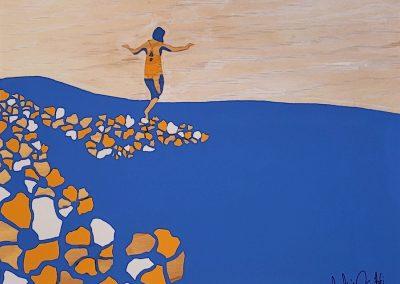 painting by -Jaclynn-Sabado-Eitel, Yellow Brinck Road